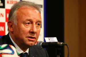 Japan head coach Alberto Zaccheroni