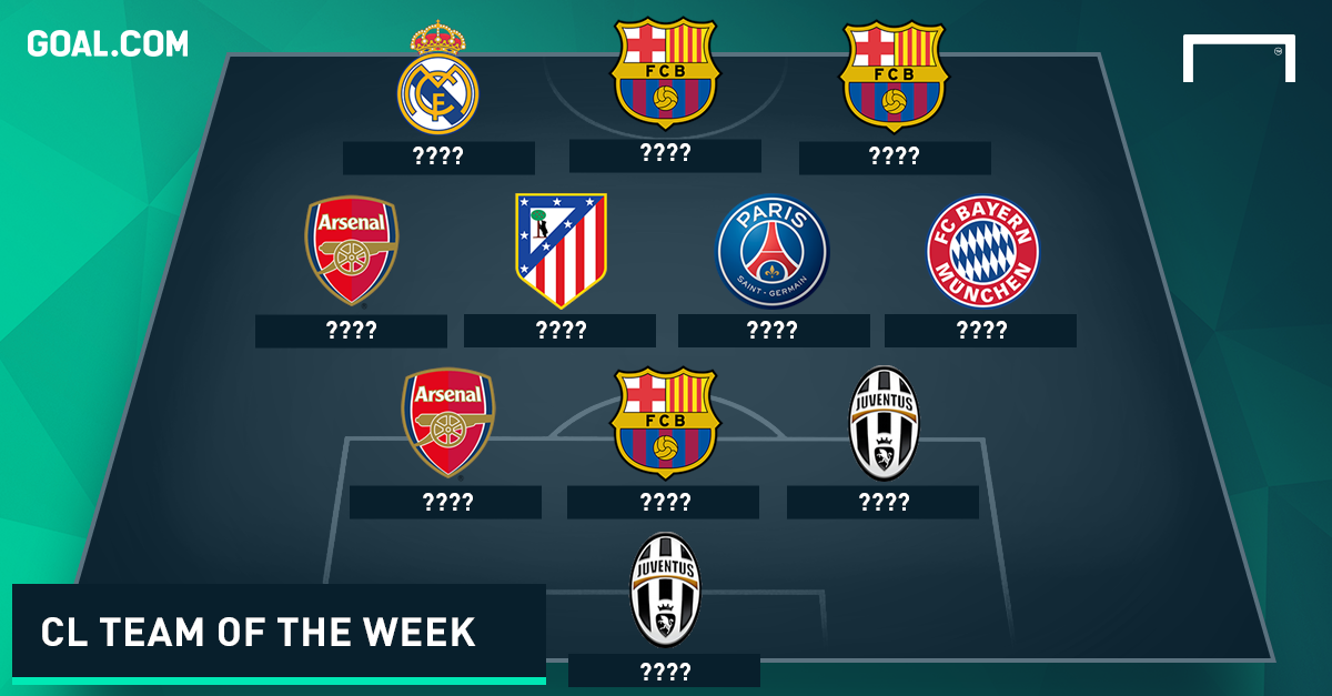 Champions League Team of the Week tease