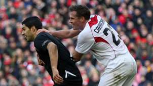 Luis Suarez Jamie Carragher Liverpool Charity Match 29032015