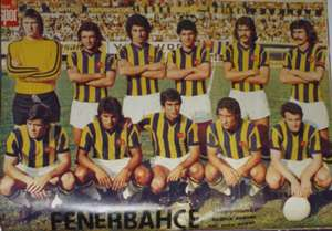 Fenerbahce team which lost 7-0 against Benfica in 1975