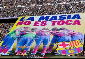 Barcelona Banner La Masia Youth Transfer Ban La Liga 04052014