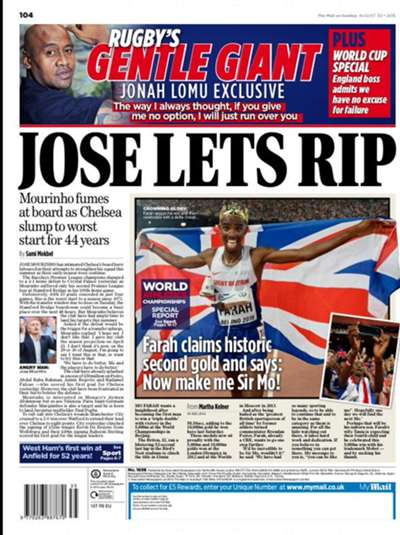 Mail on Sunday backpage 30-08-2015