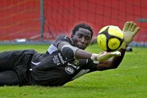 Kenya goalkeeper Arnold Origi.