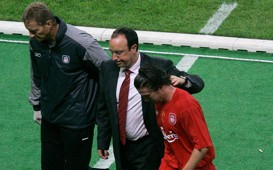 Harry Kewell Rafael Benitez AC Milan v Liverpool 2005 UEFA Champions League final