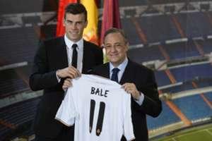 Gareth Bale and Florentino Perez.