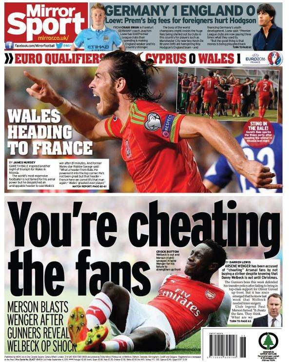 Daily Mirror backpage 04-09-2015