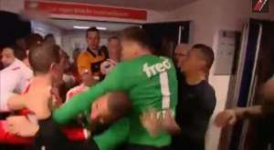 PSV's players brawl Feyenoord's players
