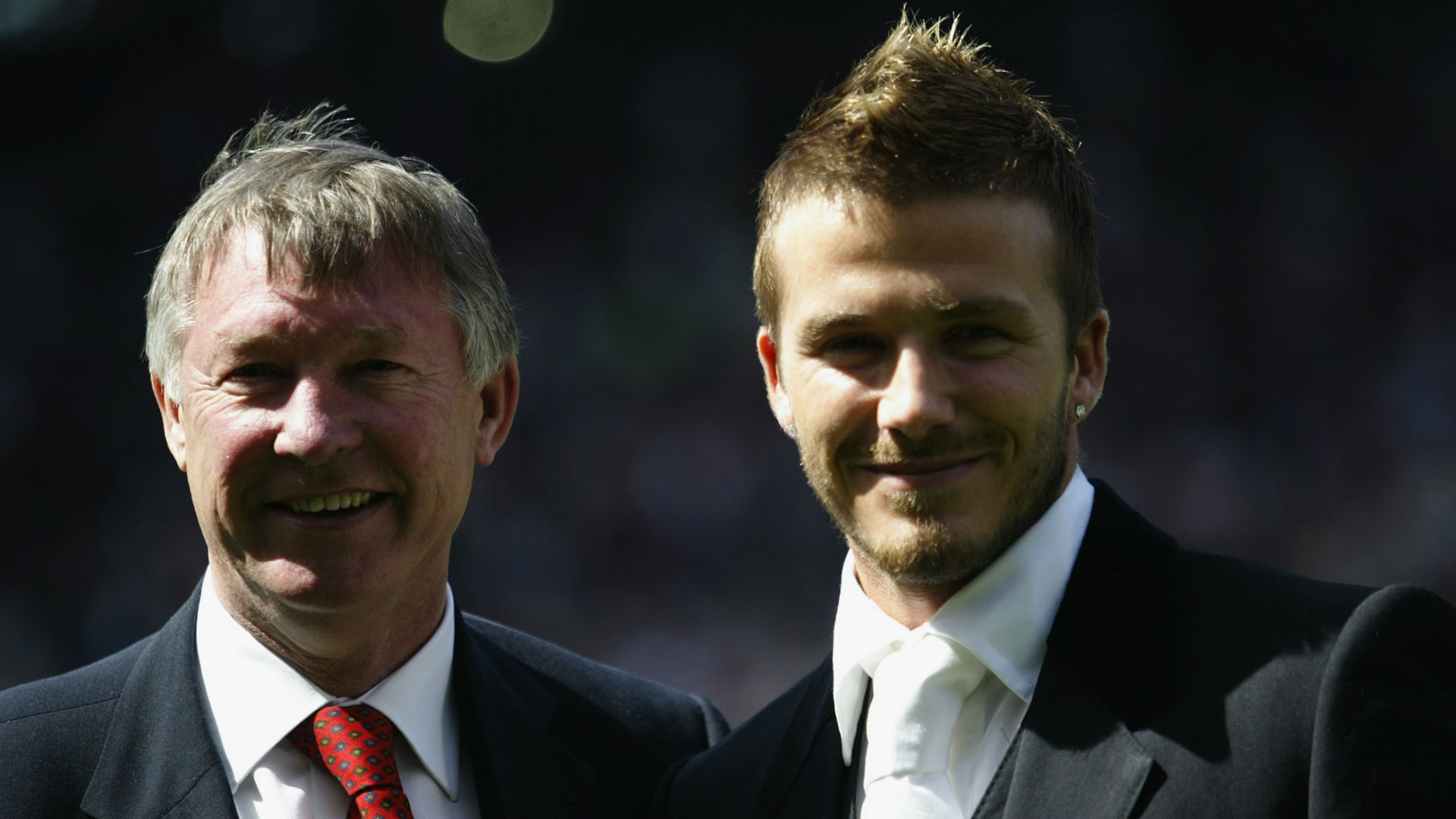 David Beckham and Sir Alex Ferguson