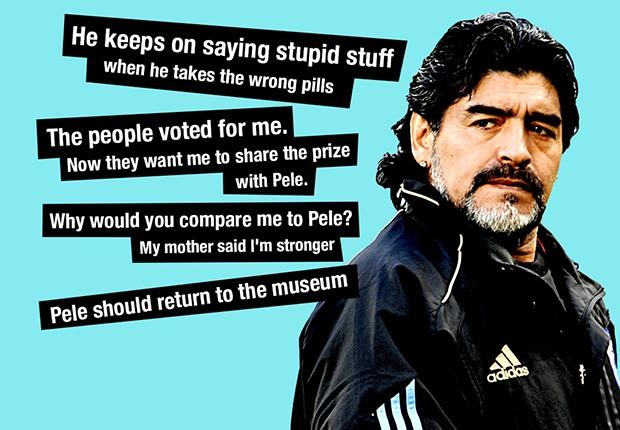 GFX Diego Maradona Pele Quotes