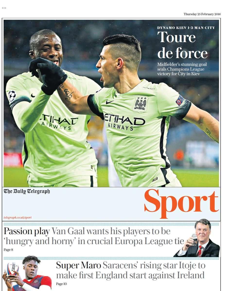 Daily Telegraph 25022016