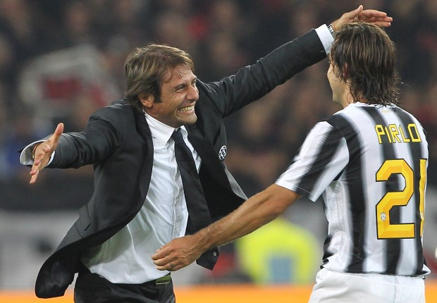 Juventus v Antonio Conte v Andrea Pirlo