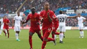 Roberto Firmino Premier League Swansea v Liverpool 011016