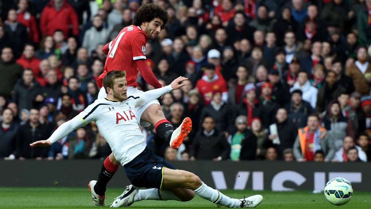 Eric Dier Marouane Fellaini Manchester United Tottenham Premier League 15032015