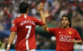 Carlos Tevez and Cristiano Ronaldo - Manchester United - 2008