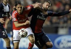 Ljubomir Fejsa Jeremy Menez Benfica Paris SG Champions League 12102013