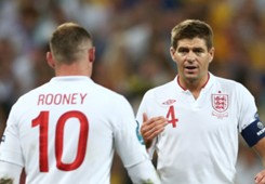 Wayne Rooney and Steven Gerrard - England
