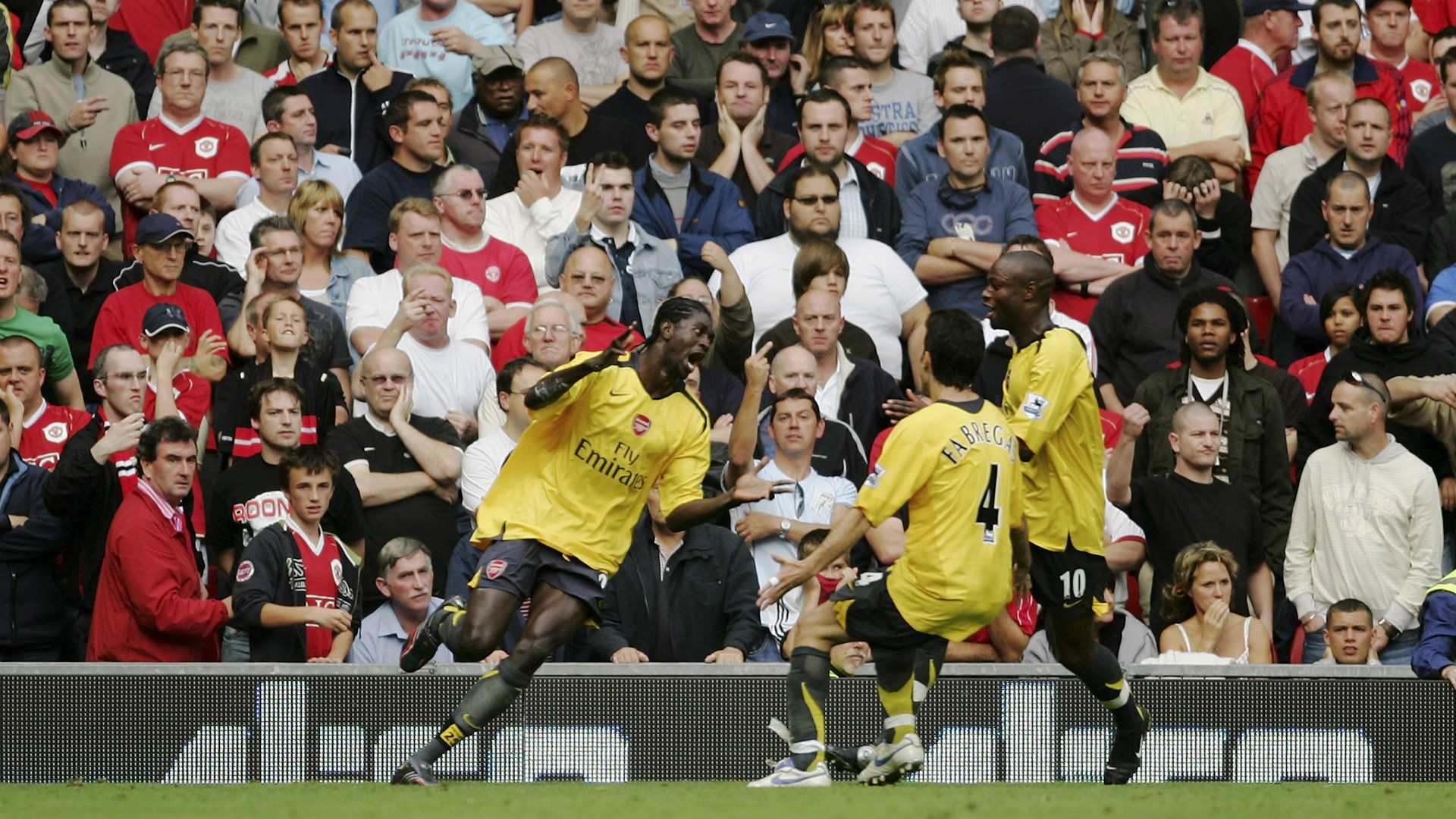 Emmanuel Adebayor Manchester United Arsenal Premier League 17092006