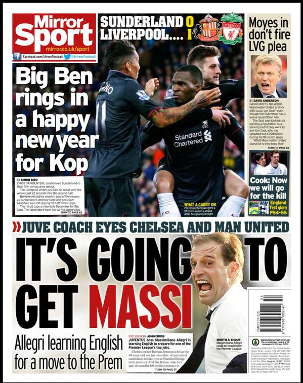 Daily Mirror 311215