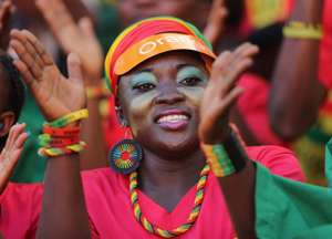 Ghana woman fan at 2013 Afcon