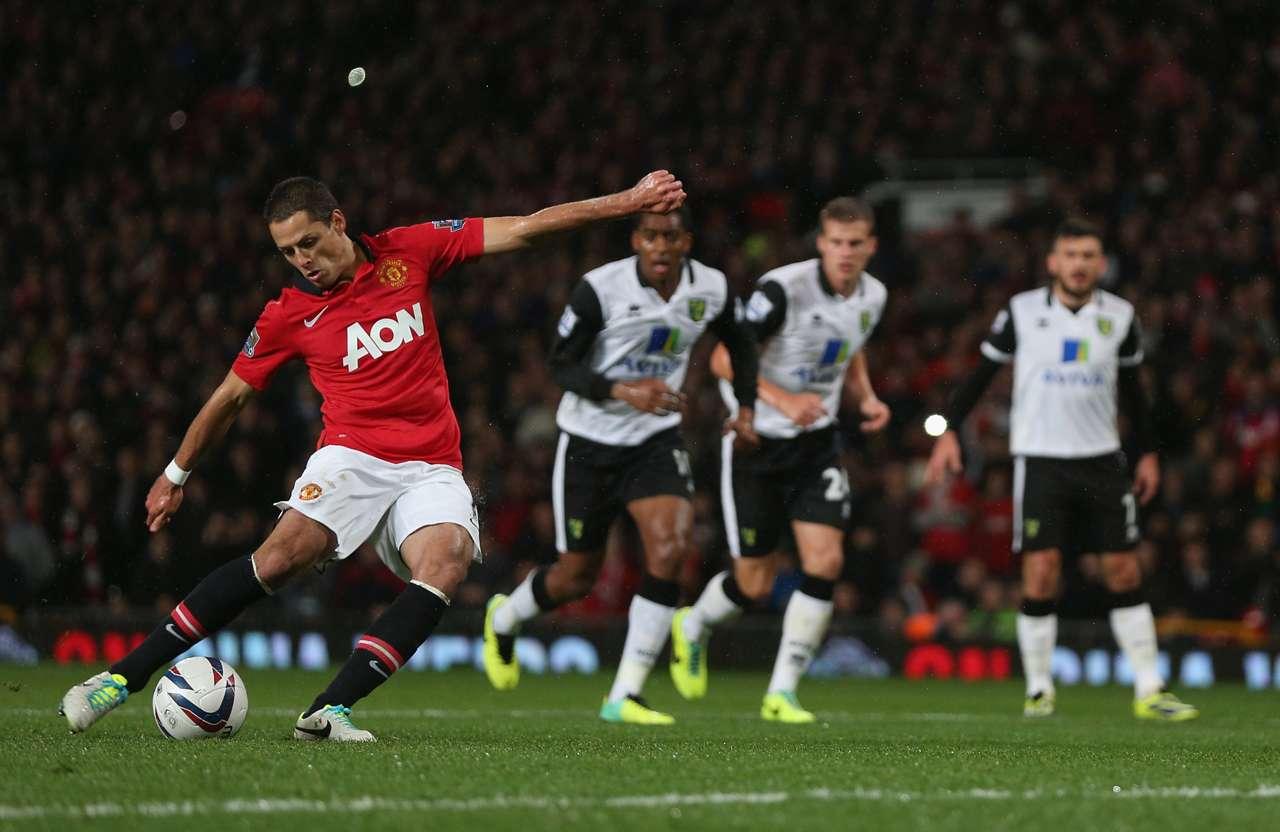 Manchester United's Javier Hernandez.