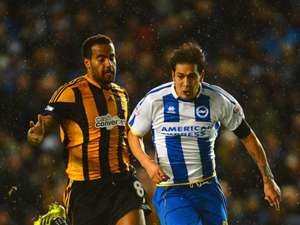 Tom Huddlestone Adam Chicksen Brighton & Hove Albion Hull City FA Cup 02172014