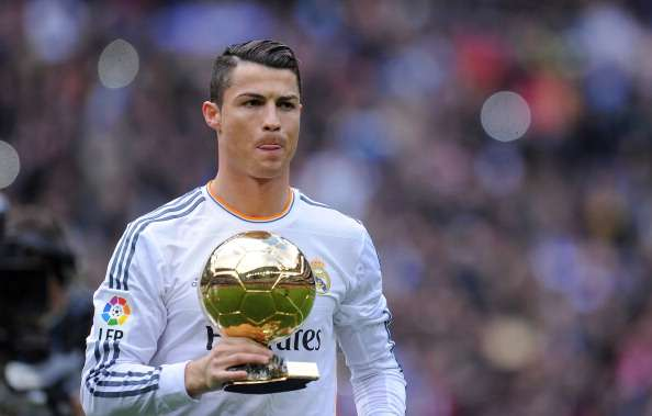 Cristiano Ronaldo with Ballon d'Or
