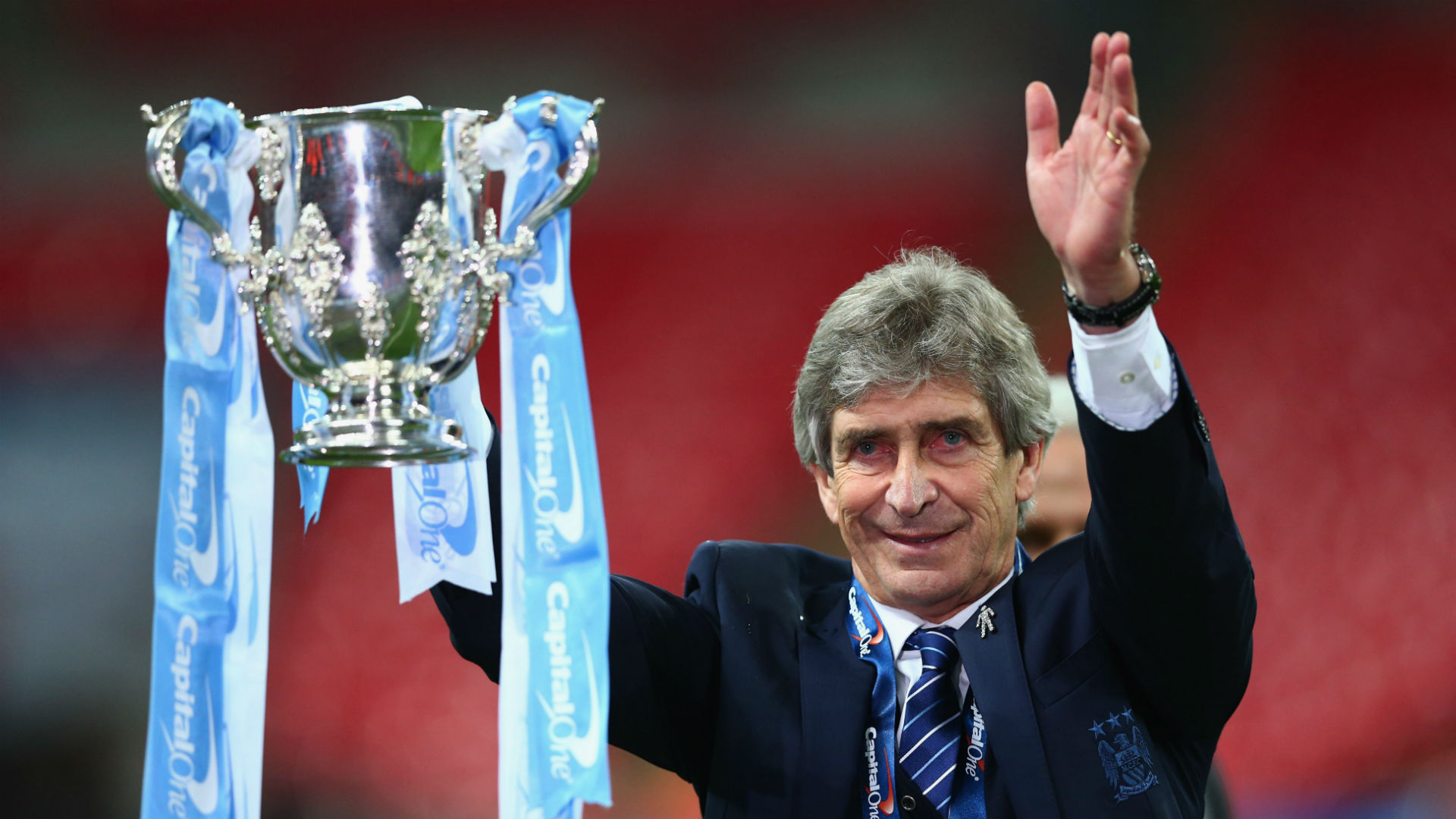Manuel Pellegrini Liverpool v Man City League Cup