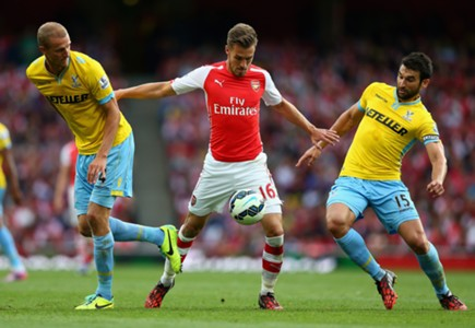 Aaron Ramsey, Arsenal v Crystal Palace, Premier League, 08162014