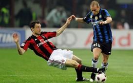 Wesley Sneijder and Mark van Bommel - Milan - Inter