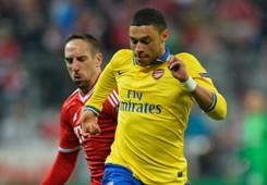 Alex Oxlade Chamberlain Arsenal Franck Ribery Bayern Munich Champions League 03112014