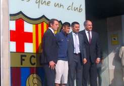 Neymar presentation at Barcelona