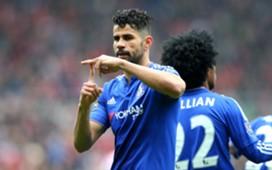 Diego Costa celebrates goal vs Sunderland