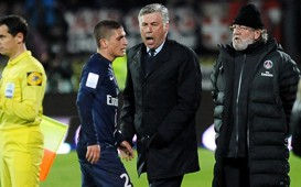 Ligue 1 : Carlo Ancelotti & Marco Verratti (Evian TG vs Paris SG)