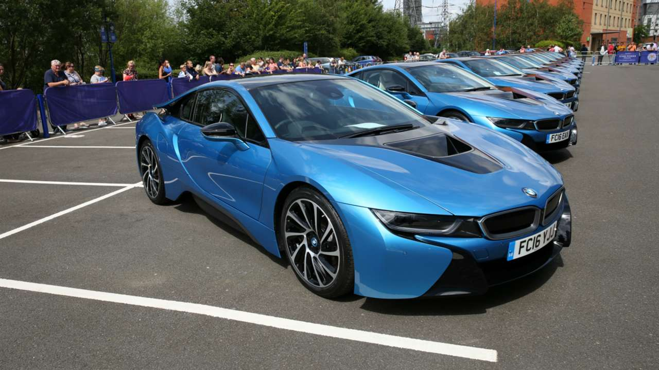 Leicester City's Premier League winners gifted BMW BMW i8s