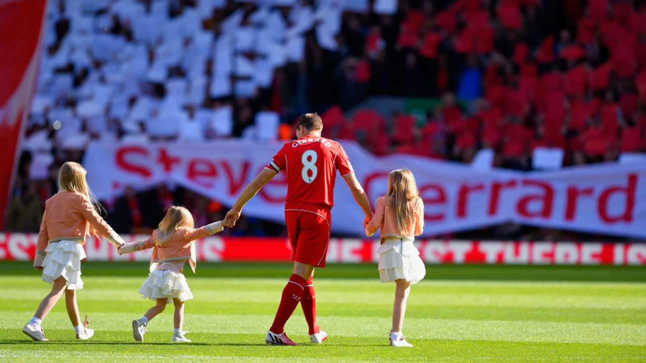 Steven Gerrard Liverpool Crystal Palace 16052015