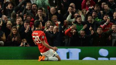 Robin van Persie Manchester United vs Olympiakos 2014