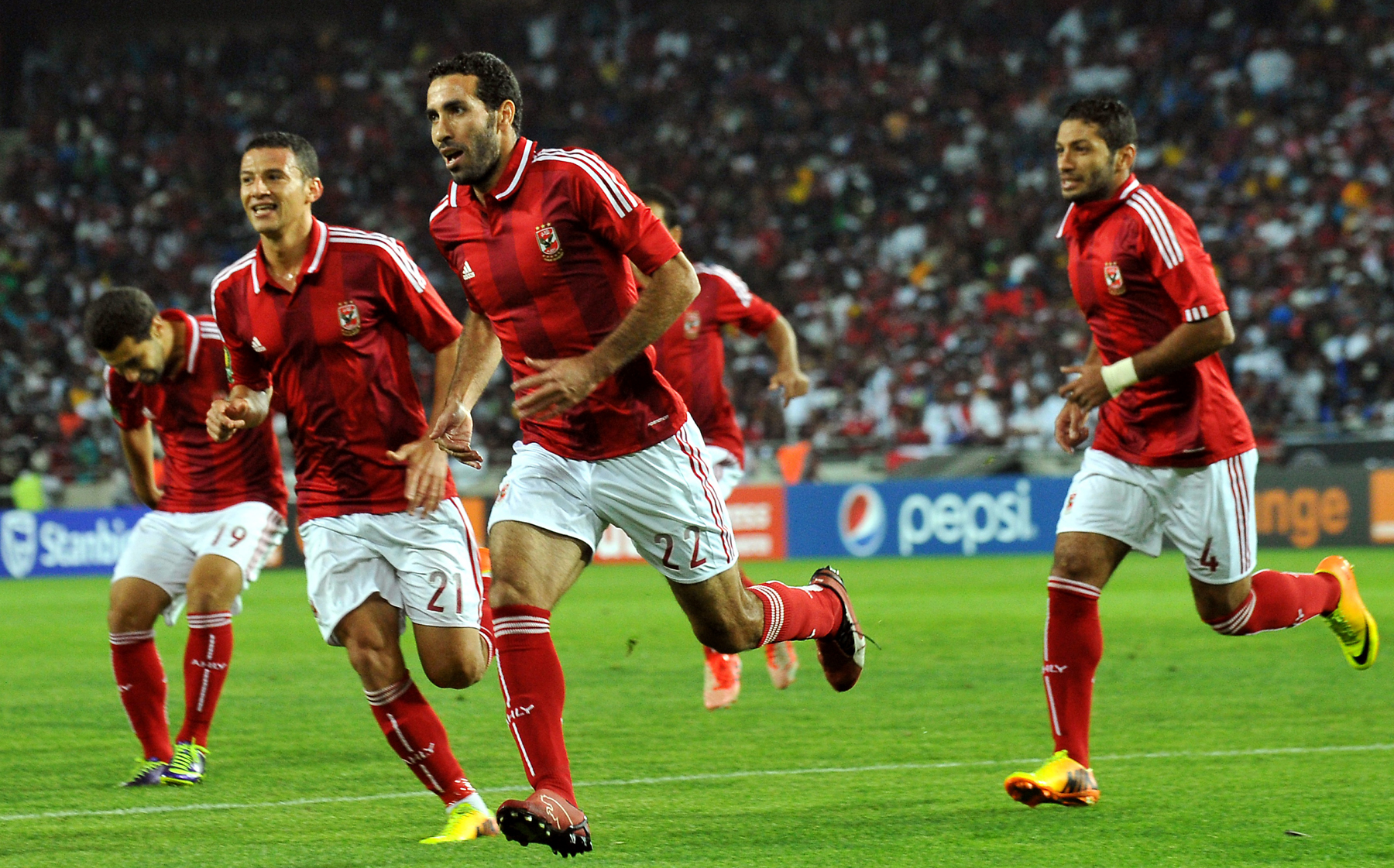 Mohamed Aboutrika Al Ahly Vs Orlando Pirates at the African Champions League 2013