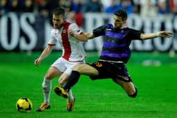 Rayo Vallecano's Tito and Real Valladolid's Valdet Rama