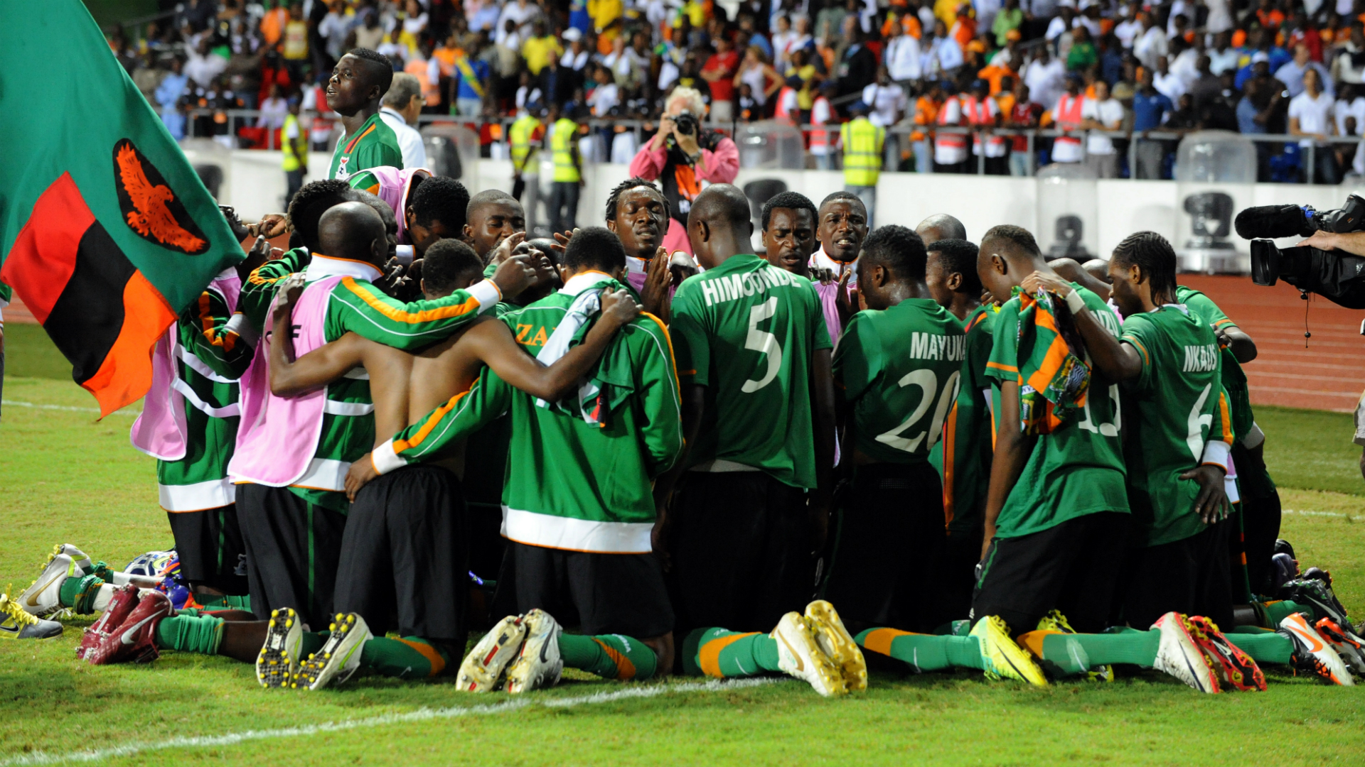 Zambia winning Africa Cup of Nations in 2012