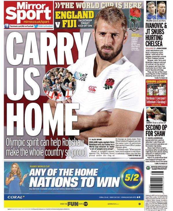 Daily Mirror Back Page 180915