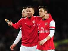 Lukas Podolski Mesut Ozil Arsenal Liverpool  FA Cup 02162014