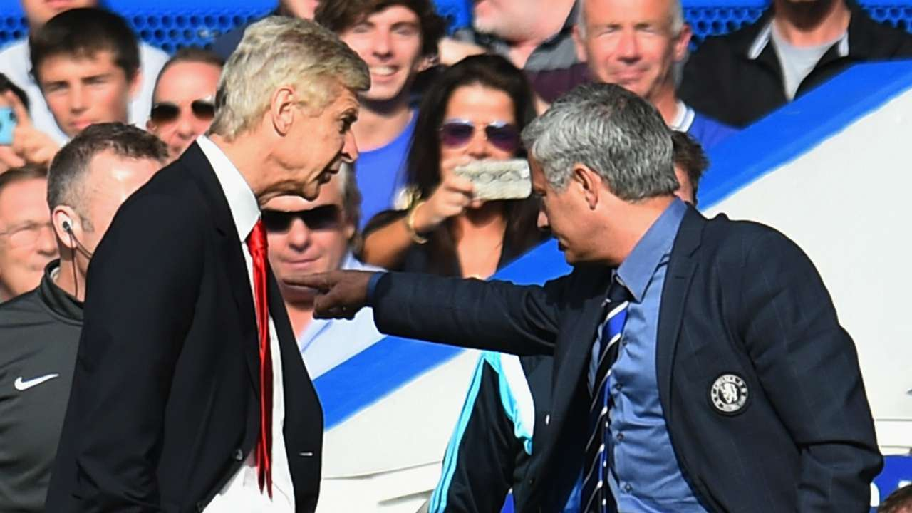 Arsene Wenger Jose Mourinho Chelsea Arsenal Premier League 04102014