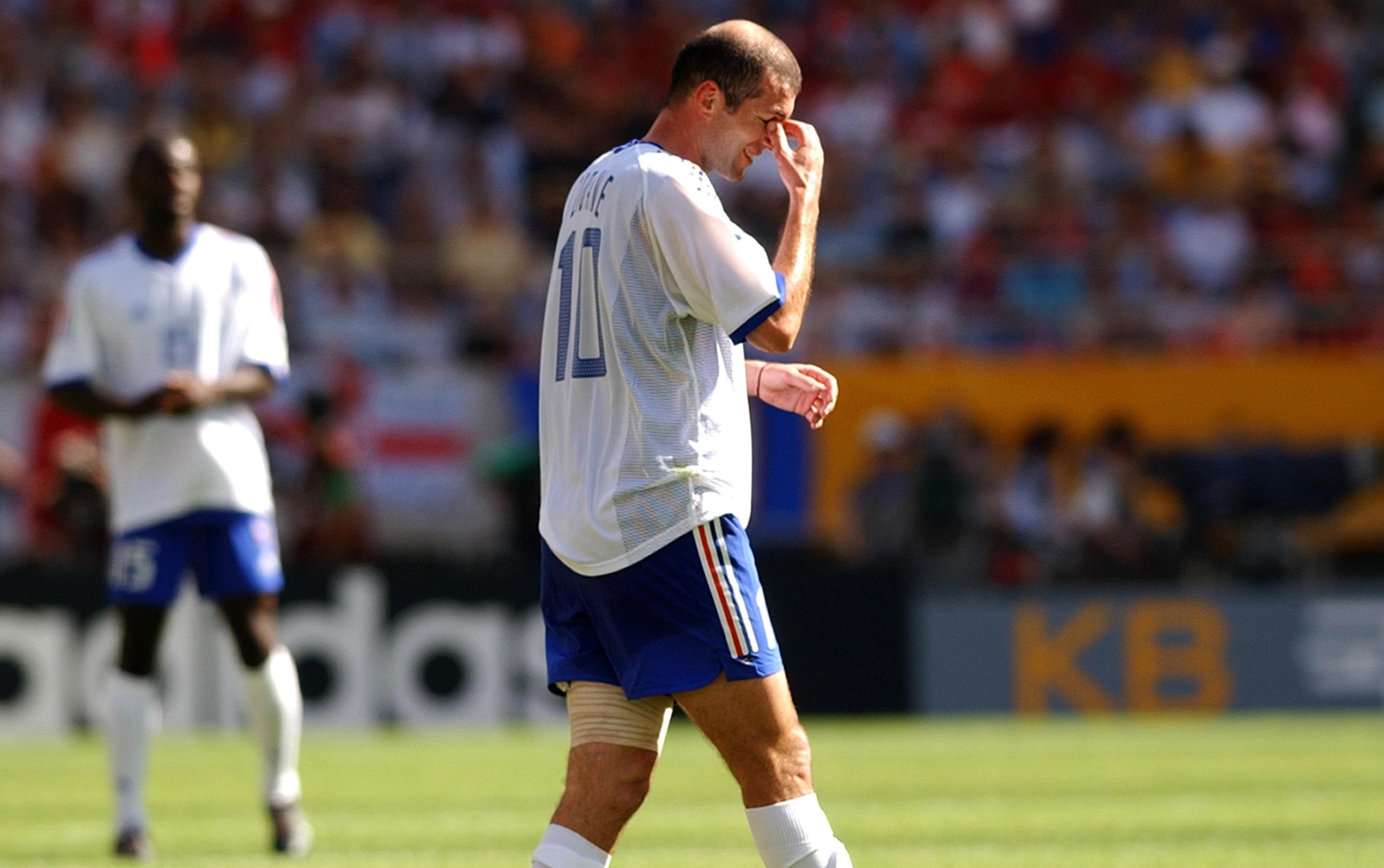 Zinedine Zidane France Denmark FIFA World Cup 2002