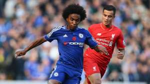 Willian, Coutinho, Chelsea vs Liverpool