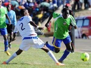 Kenya U-20 in a international match.