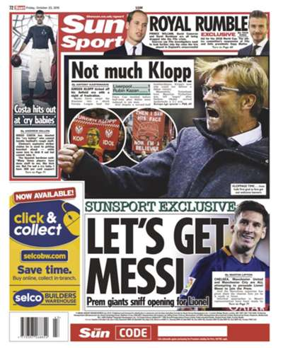 The Sun Back Page 221015
