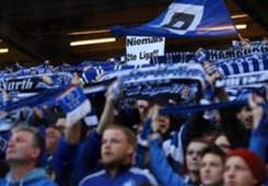 HSV Fans at Hamburger SV vs. Greuther Furth, German playoffs