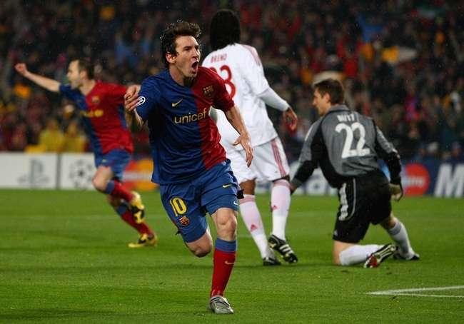 Messi against Bayern 2009