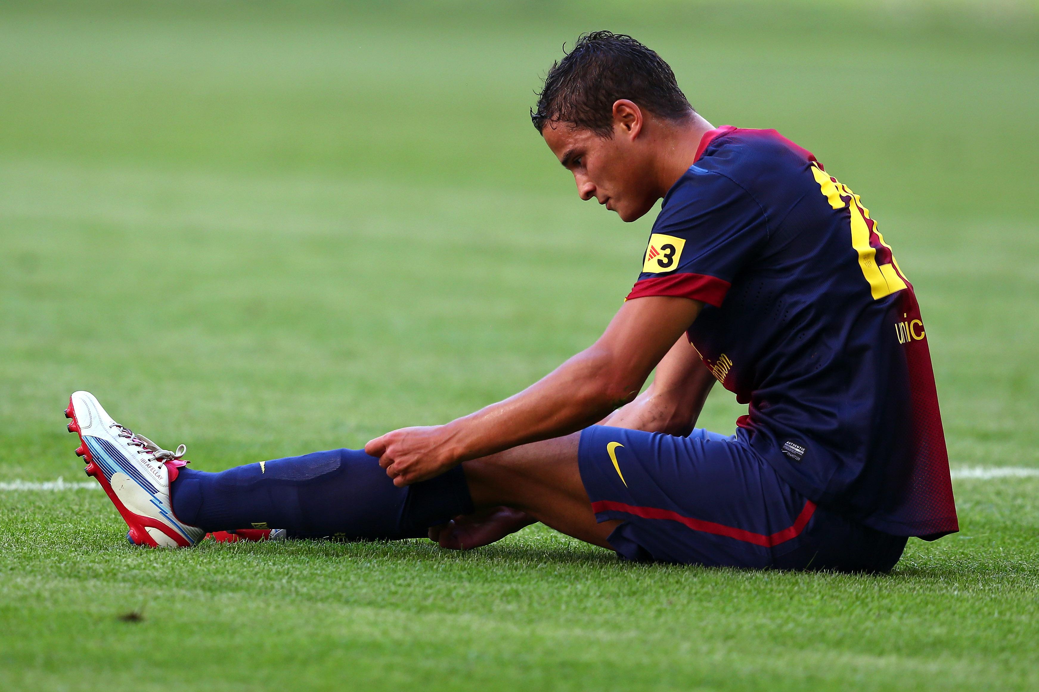 Barcelona midfielder Ibrahim Afellay