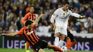 Champions League Real Madrid vs Shakhtar Donetsk Cristiano Ronaldo Taras Stepanenko